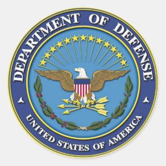 Département de la Défense Sticker Rond