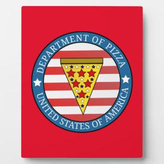 Département de pizza impression sur plaque
