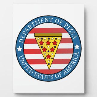 Département de pizza impressions sur plaque