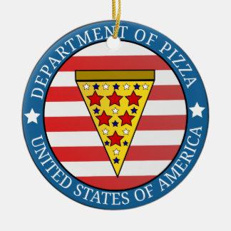 Département de pizza ornement rond en céramique