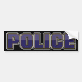 Département de Police de lustre bleu-foncé Autocollant De Voiture