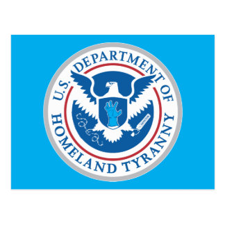Département de tyrannie de patrie carte postale