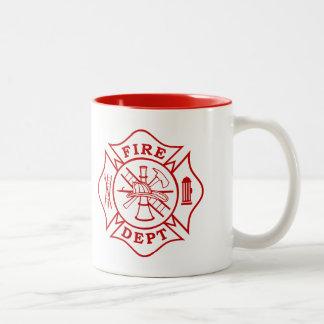 Département du feu/tasse croix maltaise de tasse 2 couleurs