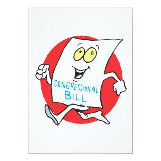 Dépassement de Bill du congrès Carton D'invitation 12,7 Cm X 17,78 Cm
