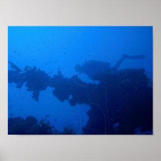 Dépassement du plongeur poster