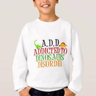 Dépendant au désordre de dinosaures sweatshirt