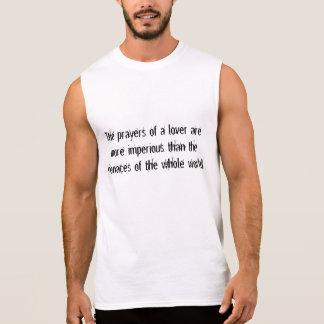 d'épigramme des hommes T-shirt sans manche du