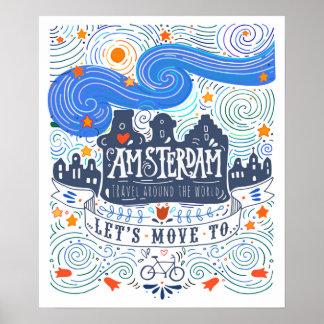 Déplaçons-nous à Amsterdam Poster