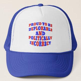 Déplorable ET politiquement incorrect Casquette