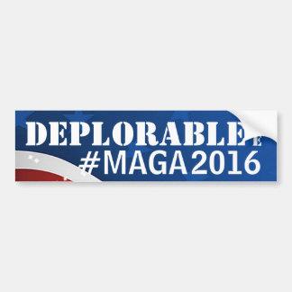 Déplorable je #MAGA/rend l'Amérique grande encore Autocollant De Voiture