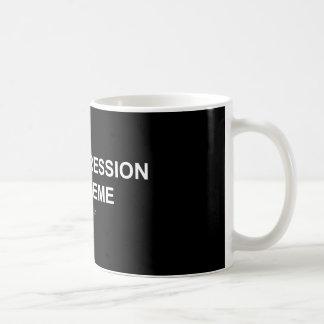 Dépression/Meme - tasse de noir/blanche