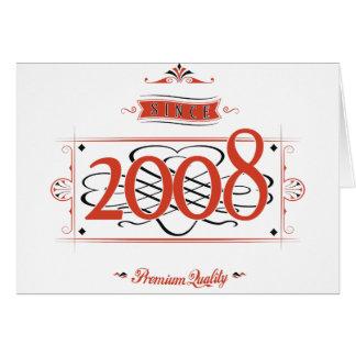 Depuis 2008 (Red&Black) Carte De Vœux