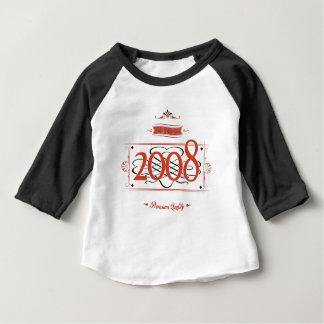 Depuis 2008 (Red&Black) T-shirt Pour Bébé