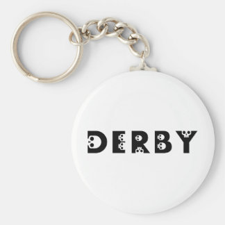 Derby : skullphabet porte-clé rond