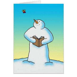 Dérive de neige carte de vœux