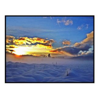 Dérive de neige carte postale