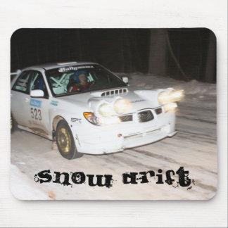 Dérive de neige tapis de souris