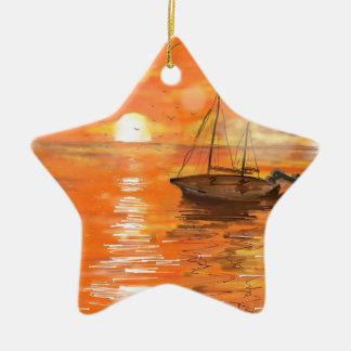 Dérive loin ornement étoile en céramique