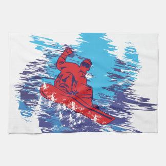 Dérives élevées de neige de Cathching de surfeur m Serviettes Éponge