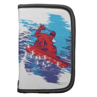 Dérives élevées de neige de Cathching de surfeur m Organiseur