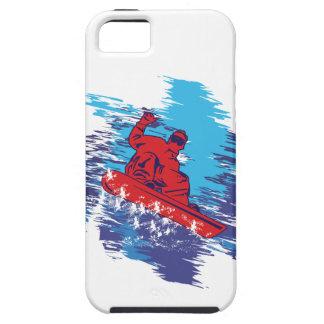 Dérives élevées multi de neige de Snowbarder Coque iPhone 5