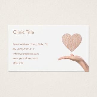 Dermatologue blanc simple - docteur de peau carte