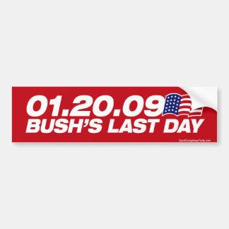 Dernier adhésif pour pare-chocs du jour de Bush Autocollants Pour Voiture