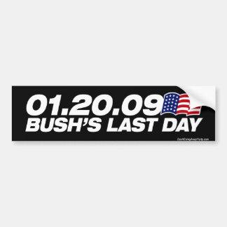 Dernier adhésif pour pare-chocs du jour de Bush Autocollant Pour Voiture