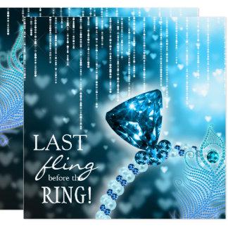 Dernier Fling avant l'anneau de bleu de Carton D'invitation 13,33 Cm