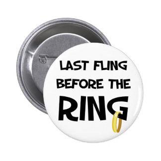Dernier fling avant le bouton d'anneau badge