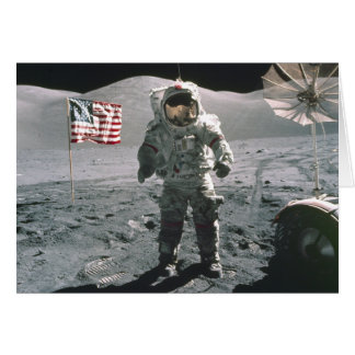 Dernier homme d'Apollo 17 sur la carte de note de