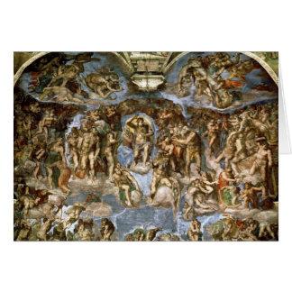 Dernier jugement, de la chapelle de Sistine, Carte De Vœux