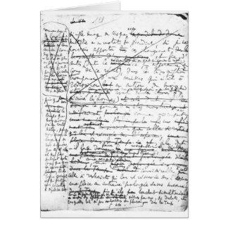 Dernière page 'd'une La Recherche du Temps Perdu' Carte De Vœux