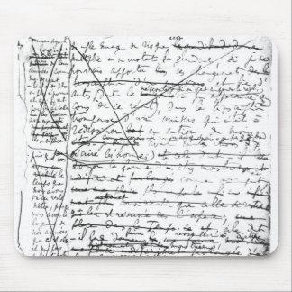 Dernière page 'd'une La Recherche du Temps Perdu' Tapis De Souris