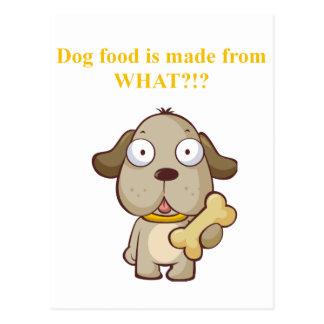 Des aliments pour chiens drôles sont faits à cartes postales