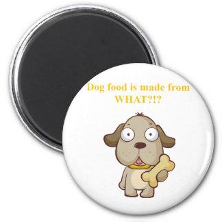 Des aliments pour chiens drôles sont faits à parti magnet rond 8 cm