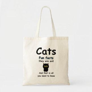 Des anecdotes amusantes de chats ils sont mauvais tote bag