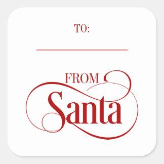 Des autocollants de carré de vacances de Noël du