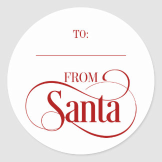 Des autocollants ronds de vacances de Noël du père