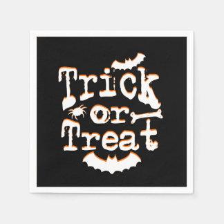 des bonbons ou un sort Halloween Serviette En Papier