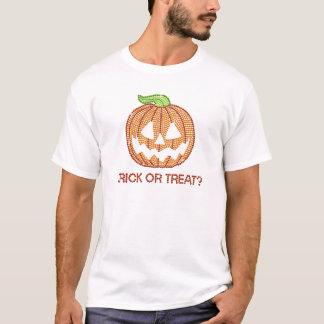 Des bonbons ou un sort imprimé de citrouille t-shirt