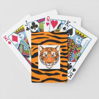 Des cartes de jeu de tigre - deviennent comme fous cartes à jouer