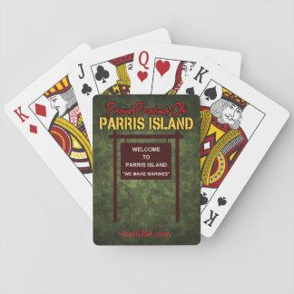 Des cartes de jeu faisons marines d'île de Parris Cartes À Jouer