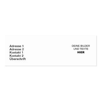 Des cartes de visite étroites elles-mêmes organise carte de visite petit format