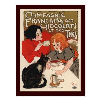 DES Chocolats de Compagnie Francaise Cartes Postales
