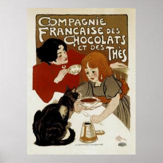 DES Chocolats de Compagnie Francaise Posters
