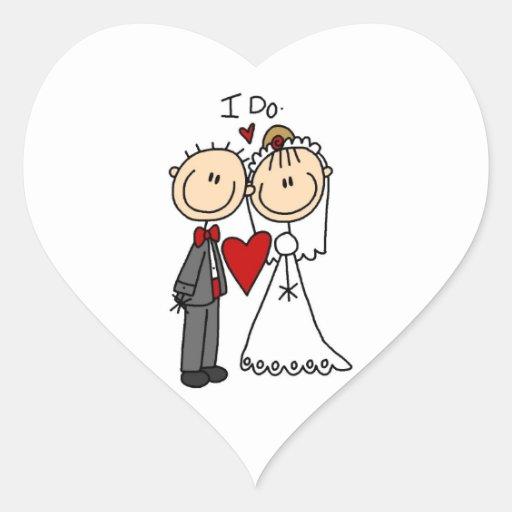 Des couples de mariage je fais le T-shirts et les Autocollant En Cœur