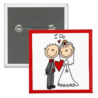 Des couples de mariage je fais le T-shirts et les Pin's Avec Agrafe