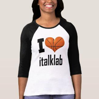 """Des dames """"j'aime l'italklab"""" 3/4 raglan de t-shirt"""