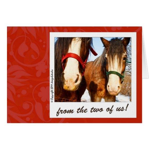 Des deux de nous cartes de vœux